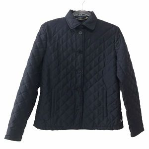 Ralph Lauren Navy Quilted Button Front Jacket S